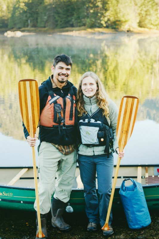 April Link and Chris Ridley of Outer Coast Outfitters