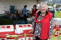 Canada Day Cake! and Volunteers