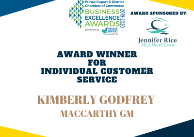 Individual Customer Service Excellence Award Winner
