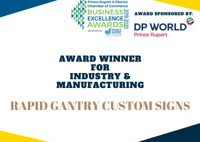 Industry and Manufacturing Award Winner